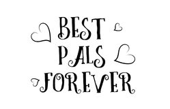 best pals forever love quote logo greeting card poster design stock illustration