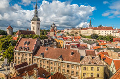 Best Panoramic view of Tallinn Estonia Royalty Free Stock Image