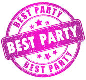 Best party stamp Royalty Free Stock Photography