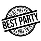 Best party stamp Stock Photos