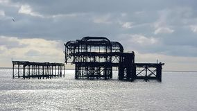The best pier in brighton. Whats left of you Brighton england stock image