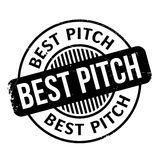 Best Pitch rubber stamp Royalty Free Stock Photography