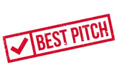 Best Pitch rubber stamp Royalty Free Stock Photo