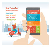 Best pizza app Royalty Free Stock Photo