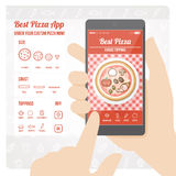 Best pizza app Royalty Free Stock Photography