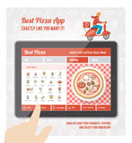 Best pizza app Stock Photography