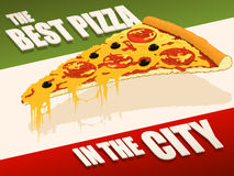 Best pizza in city Royalty Free Stock Photography