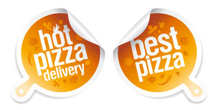 Best pizza stickers. Royalty Free Stock Photography