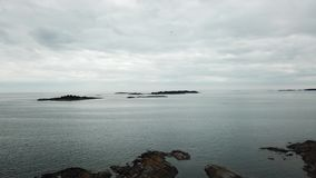 Small rocks placed here in archipelago of Finland stock video