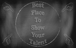 Best Place to Show Your Talent Stock Photo