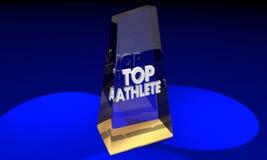 Best Player Award för bästa idrottsman nen pris Arkivfoto