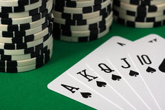 Best Poker Hand Stock Photo