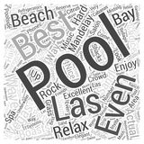Best Pools in Las Vegas word cloud concept  background Stock Photos
