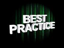 Best practice fotografia stock