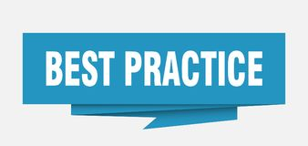 Best practice. Sign.  paper origami speech bubble.  tag.  banner stock illustration