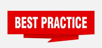 Best practice. Sign.  paper origami speech bubble.  tag.  banner royalty free illustration