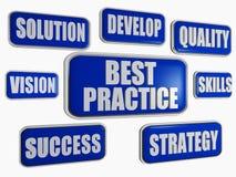 Best practice - blue business concept Stock Image