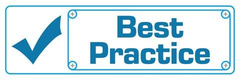 Best Practice Blue Horizontal Border Royalty Free Stock Photo