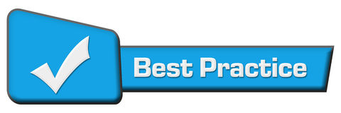 Best Practice Blue Triangle Horizontal Royalty Free Stock Photography