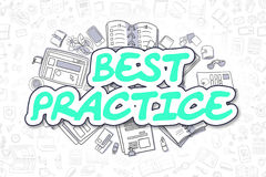 Best Practice - Doodle Green Word. Business Concept. Royalty Free Stock Photography