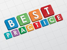 Best practice, flat design Royalty Free Stock Image