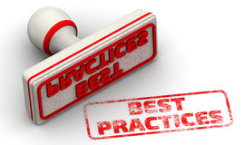 Best practice Guarnizione ed impronta Fotografia Stock