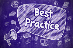 Best Practice - Hand Drawn Illustration on Blue Chalkboard. Royalty Free Stock Photography