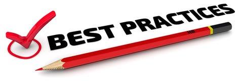 Best practice Il segno di spunta Immagine Stock