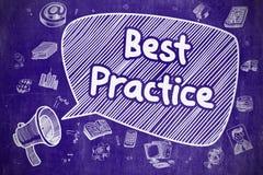 Best practice - illustrazione disegnata a mano sulla lavagna blu Royalty Illustrazione gratis