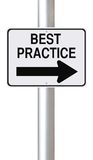 Best Practice. A modified one way street sign indicating the business concept of Best Practice royalty free illustration