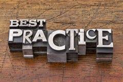 Best practice nel tipo del metallo Immagine Stock