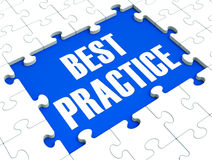 Best Practice Puzzle Shows Effective. Habit And Successful Training Stock Image
