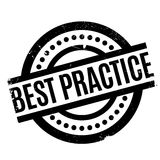 Best Practice rubber stamp. Grunge design with dust scratches. Effects can be easily removed for a clean, crisp look. Color is easily changed Royalty Free Stock Photos