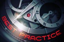 Best practice sul meccanismo di lusso dell'orologio da tasca 3d Illustrazione di Stock