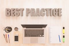 Best Practice text concept royalty free illustration