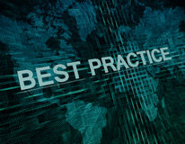 Best Practice royalty free illustration