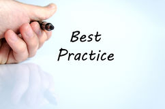 Best practice text concept stock photo