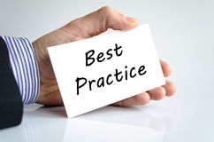 Best practice text concept royalty free stock photography