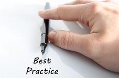 Best practice text concept stock images