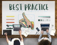 Best Practice Thumbs Up Approval Concept stock image
