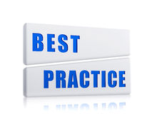 Best practice in white blocks Stock Images