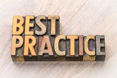 Best practice word abstract in wood type Royalty Free Stock Images