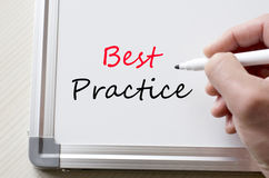 Best practice written on whiteboard stock photo