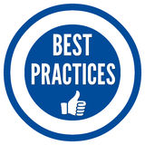 Best practices sign Stock Images