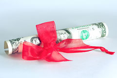 Best present - dollars USA Royalty Free Stock Photography