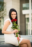 Best present  - woman with roses Stock Photography