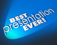 Best Presentation Ever 3d Words Blue Background Great Proposal Stock Images