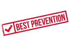 Best Prevention rubber stamp Royalty Free Stock Photo