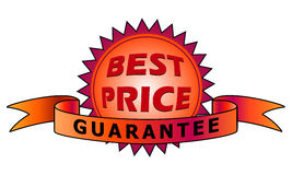 Best Price's label in red color Stock Images