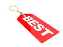 Best price. 3d illustration of red tag, best price concept vector illustration